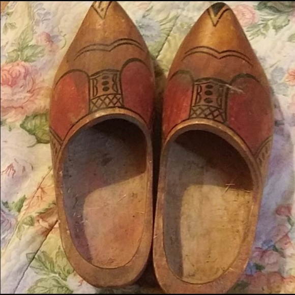 Antique wooden shoes from Holland